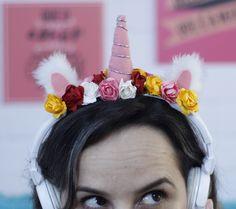 fone de ouvido customizado, fone de ouvido unicórnio, unicórnio, diy fone de ouvido