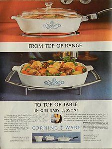 corning ware ( 1964) - I love this piece! Very practical- now I just need a handle for mine to go on the stovetop