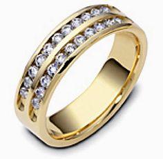 5.5mm Two-Tone Gold Diamond Anniversary Band