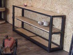 Console Bois Metal console métal et bois à tiroirs | projects to try | pinterest