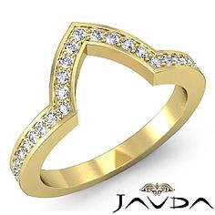 Pave Diamond Wedding Band Matching Set 18k Gold (0.5Ct. tw.)