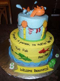 dr seuss baby shower - cake
