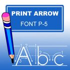 With this ABC Print Arrow Font, specially designed  for teachers, you can easily create hundreds of handwriting, spelling & penmanship lessons ...