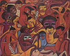 Malangatana Valente Ngwenya (Mozambican, 1936-2011 - by Bonhams
