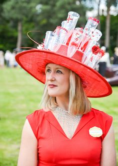 Royal Ascot: Wild Hat That Slipped Past The Fashion Police- champagne anyone?