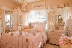 Romantic bedroom in vintage style...