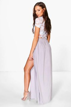6b8ff225d962b Lace Crop Bralet And Maxi Skirt Co-ord