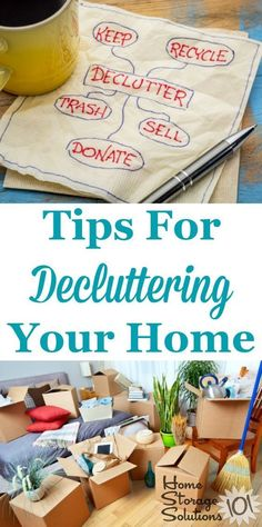 Tips for decluttering your home, including dealing with emotions and psychology surrounding clutter, plus practical tips for removing junk and excess stuff from every room in your home {a series on Home Storage Solutions 101} #cluttertips