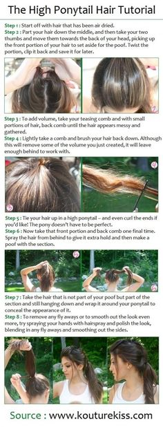 The High Ponytail Hair Tutorial
