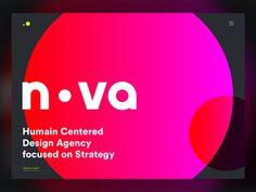 NOVA - Studio website design by George Vasyagin for NOVA on Dribbble Design Agency, Ux Design, Ui Portfolio, Nova, App, Website, Studio, Apps, Studios
