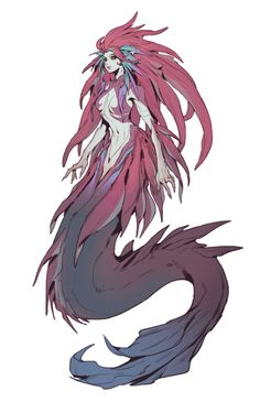 Fantasy Character Design, Character Design Inspiration, Character Art, Mermaid Drawings, Mermaid Art, Monster Design, Monster Art, Creature Concept Art, Creature Design