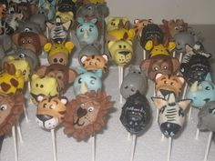 Safari Animal Cake Pops by Cake Pop Creations, via Flickr