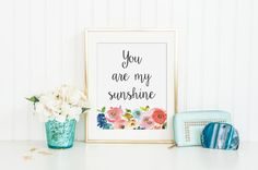 You Are My Sunshine Printable  INSTANT DOWNLOAD by CraftMei