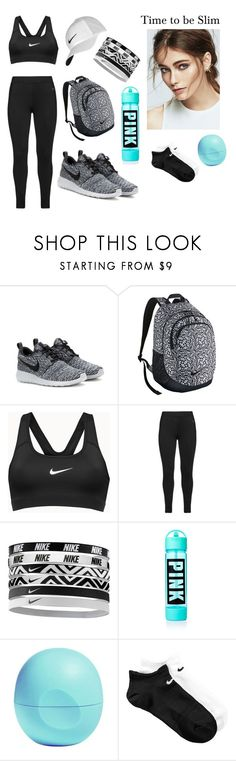 """""""Time to be slim"""" by amokik ❤ liked on Polyvore featuring NIKE, Studio, Eos, women's clothing, women's fashion, women, female, woman, misses and juniors"""