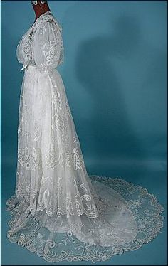 1905 wedding gown refashioned to a 1930's gown