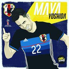 Maya Yoshida / Japon #mayayoshida #russia2018 #yoshida #worldcup2018 #japon #art #fifa #deportes #worldwide #cracks #popart #news…
