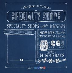 Introducing Specialty Shops.