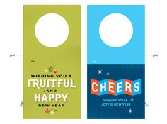 Printable New Year's gift tags for bottles | How About Orange