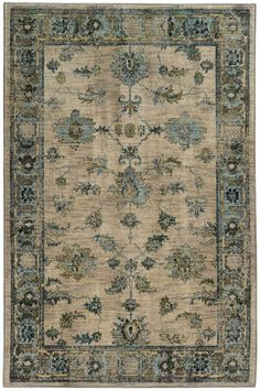 Chandler Area Rug - Traditional Rugs - Synthetic Rugs - Patterned Rugs - Border Rug - Machine-made Rugs | HomeDecorators.com