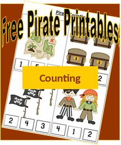 Pirate Printables: Counting Preschool Math - Some things, like math, can only be improved with practice! This preschool math sheet from my Pirate Printables collection will help your kids improve their counting skills in a fun way! Preschool Pirate Theme, Pirate Activities, Preschool Themes, Preschool Activities, Preschool Curriculum, Preschool Kindergarten, Homeschooling, Teach Like A Pirate, Math For Kids