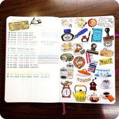 #Moleskine - Stickers sample page