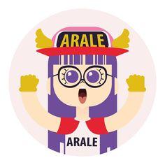 Arale fan art from Dr Slump by Akira Toriyama on Behance