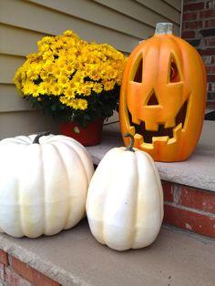 Decoraciones de otoño y Halloween