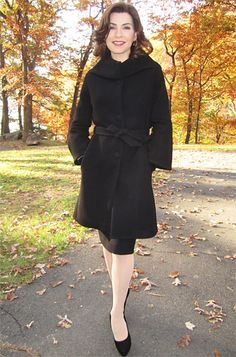 Season 4, Episode 11 Martin Grant Coat This is the coat she wore over the Dior jacket, Lawson told InStyle.com. It's my all-time favorite coat I ever used. It is made of black wool and has this amazing collar that looks like a stole. It's got bell sleeves and a belt. This coat is really stunning.
