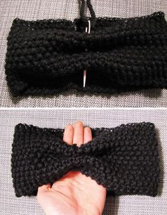 DIY - The Rice Headband - Lucette and Suzette - Knitting 01 Knitting Machine Patterns, Sewing Patterns, Crochet Headband Pattern, Knitted Headband, Crochet Stars, Crochet Baby, Baby Sweaters, Bandana, Tuto Tricot