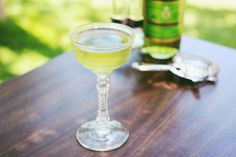 Green Dragon: 1 1/2 oz vodka  3/4 oz green Chartreuse  stir with lots of ice and strain into a chilled cocktail glass