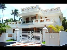 10 cents plot and 2 300 sq ft luxury house in vip House Front Wall Design, House Outside Design, Village House Design, House Gate Design, Kerala House Design, Bungalow House Design, Modern Exterior House Designs, Modern Small House Design, Modern House Plans