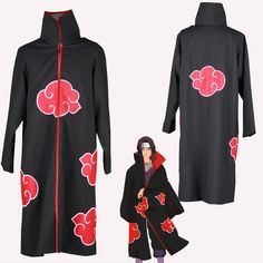 eFunLive - The robe of Naruto AKATSUKI anime cosplay costume ver.3  party wear, $12.98 (http://www.efunlive.com/the-robe-of-naruto-akatsuki-anime-cosplay-costume-ver-3-party-wear/)