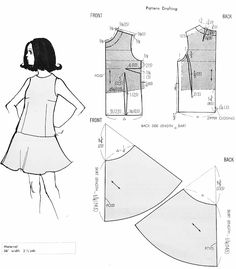 Free Sewing Patterns For Beginners: Free pattern of one-piece garment