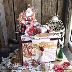 Elena Martynova (@elena_marty) • Instagram photos and videos Altered Boxes, A Christmas Story, Decorative Boxes, Scrapbook, Photo And Video, Instagram, Videos, Photos, Pictures