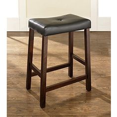"Crosley Furniture Set of Two Upholstered Saddle Seat Bar Stools Mahogany 24"" -- You can find more details by visiting the image link. (This is an affiliate link) #Furniture"