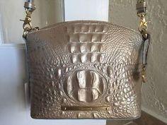 Brahmin Mini Duxbury Crossbody Mojave Melbourne Leather Gold | eBay