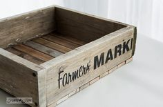 Farmers' Market stencil design / How to stencil... featuring a pallet wood crate, using Funky Junk's Old Sign Stencils