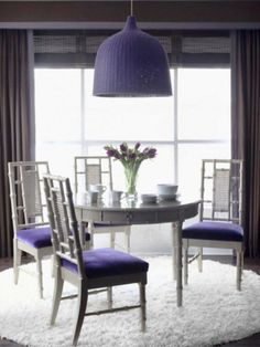 Dining RoomAppealing Decorating Purple Room Color Space Walls Paint Ideas Table And Chairs Furniture Set Design Area S