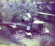 U.S. Army Bell UH-1 Huey Gunship.