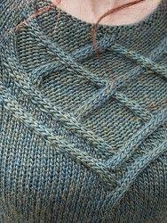Пуловер спицами Halyard