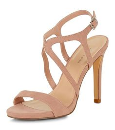 Cream Caged Ankle Strap Heeled Sandals | New Look