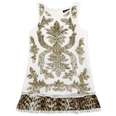 Magnificent embroidered silk party dress from Roberto Cavalli Kids - 540,00 €