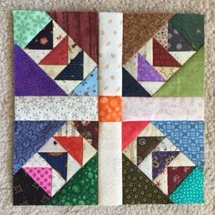 wild and goosey from Bonnie Hunter and made by Michelle of Michelle's Quilts & Stuff