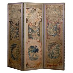 Large 3 Panel Tapestry Folding Screen, France