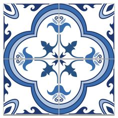 Portuguese Tiles Tile Decals Flooring Tile by HomeArtStickers