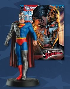 DC Comics Super-hero Figurine Collection from Eaglemoss Publications presents issue 42 Cyborg Superman It consists of a 20 page colour magazine and a