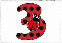 """Blog Educação e Transformação: 👍Números com o tema """"Joaninha"""" Bolo Lady Bug, Anime Miraculous Ladybug, Ladybug Crafts, Cake Decorating Videos, Bird Theme, Les Themes, Classroom Decor, Dragon Ball, Minnie Mouse"""