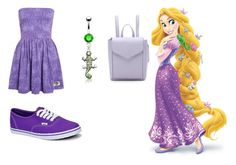 """High school Rapunzel"" by mqweber on Polyvore featuring Vans, Bling Jewelry and Loeffler Randall"