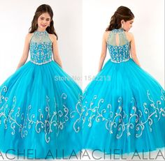 Find More Flower Girl Dresses Information about 2015 Beauty High Neck Crystals Beaded Glitz Little Girls Pageant Dresses Turquoise Ball Gown Kids Flower Girl Dress ,High Quality gown dresses for sale,China gown evening dress Suppliers, Cheap dresses brand from Rocawear on Aliexpress.com