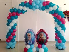 Frozen Elza ana Party decorations, Arco de globos @tuttiparty www.tuttiparty.mx